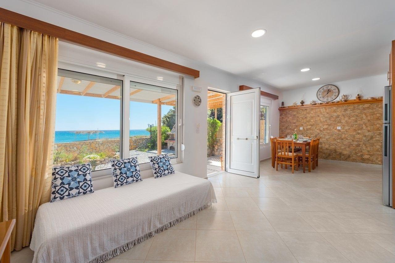 The Rhodes South Escape beachfront